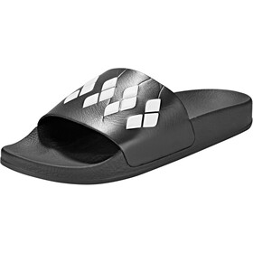 arena Team Stripe Slide Sandalen, black-black-white